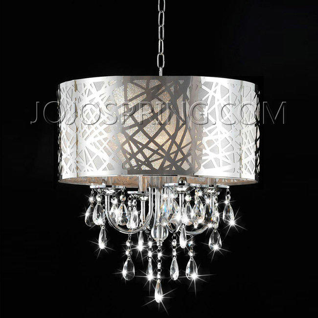 4-light Chrome Crystal Chandelier - BCM-030-SC4