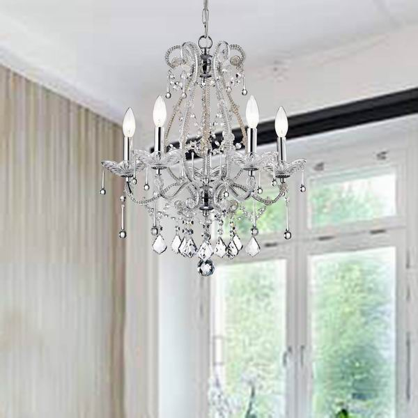 5-Light Crystal Chandelier A324