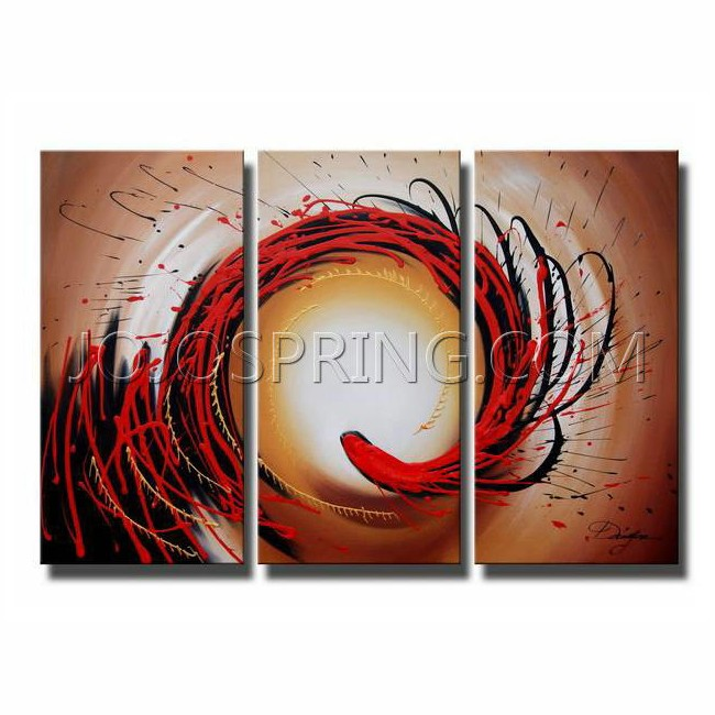 Abstract-349 Oil Paint 3-piece Canvas Art Set