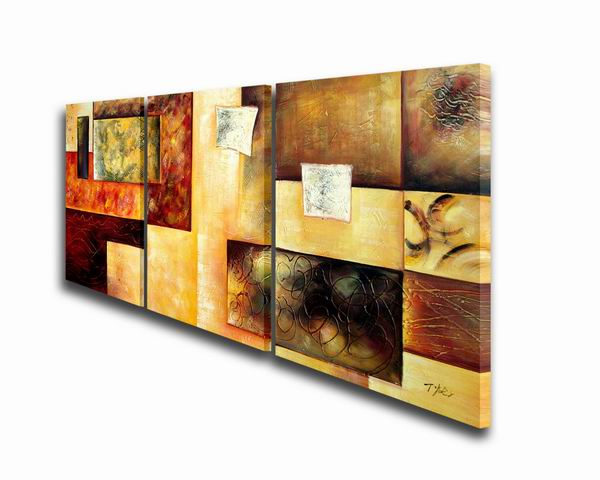 Abstract Multicolor\' Hand-painted 3-piece Oil Painting Set
