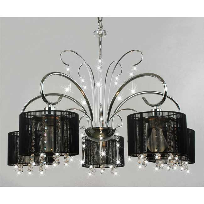 chrome and black light crystal chandelier, Lighting ideas