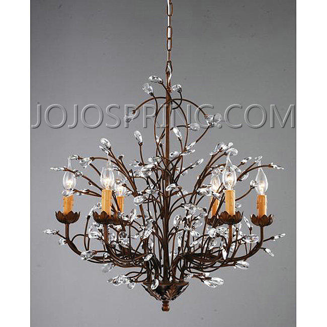 Antique bronze 6 light crystal and iron chandelierg antique bronze 6 light crystal and iron chandelier bc206 bc206 aloadofball Image collections