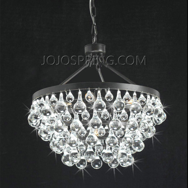 Antique Black 5-light Crystal Drop Chandelier - B889-TG-417