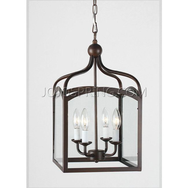 Ashley Antique Copper 4 Light Foyer Hanging Lantern