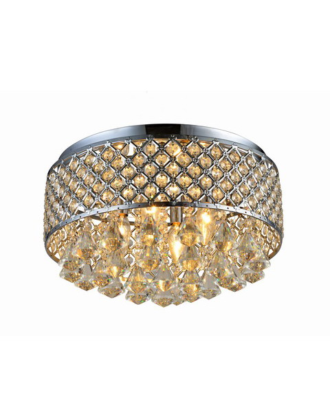 Chrome Round Shade Crystal Flush Mount B125-XU-534