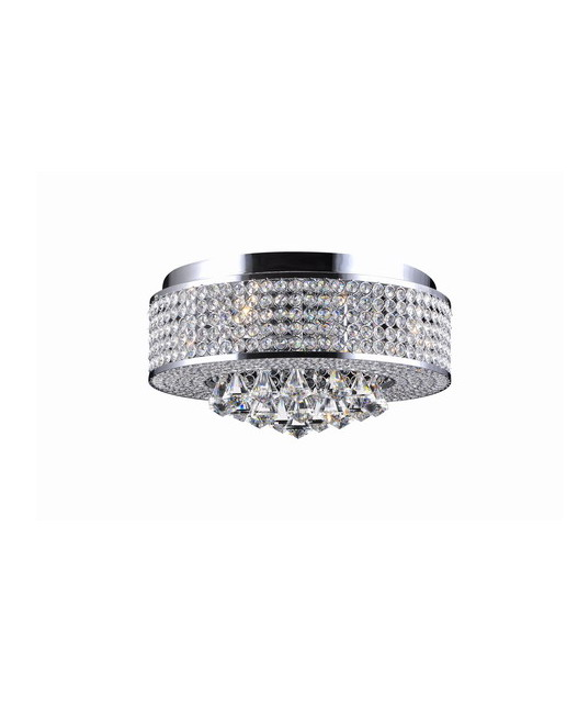 Chrome Flush Mount Chandelier with Clear Crystals B139-OL-539