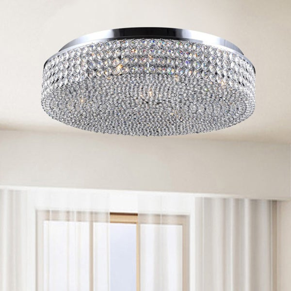Chrome and Crystal Flush Mount Chandelier B141-VQ-540