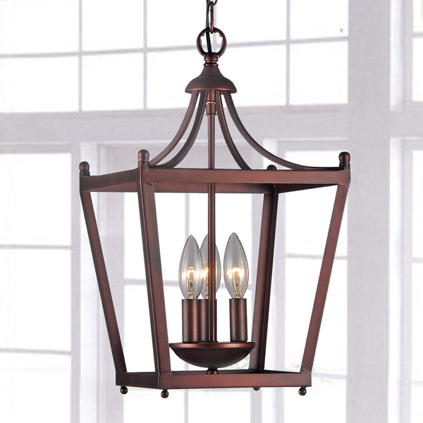 3-Light Iron Pagoda Shaped Lantern Chandelier B181-VP-560