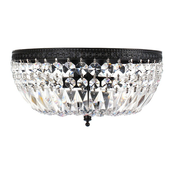 Jessica 3-Light Crystal Basket Flush Mount B207-FH-573