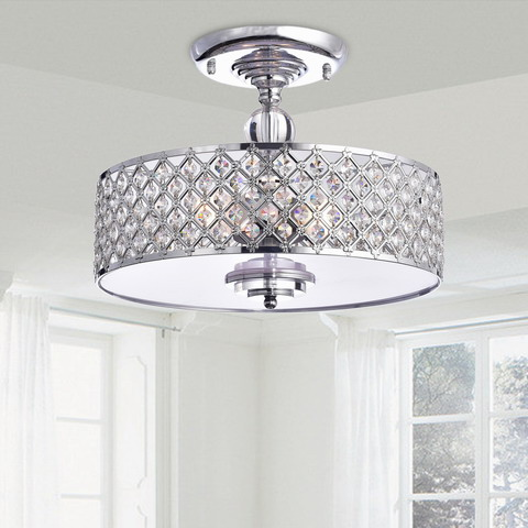 Martina Chrome Finish Flush Mount Chandelier B265-PM-602