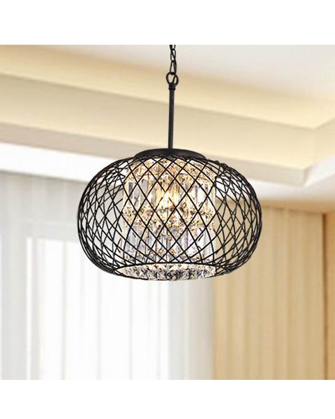 Antique Black Ironwork Pendant Chandelier B269-LZ-604