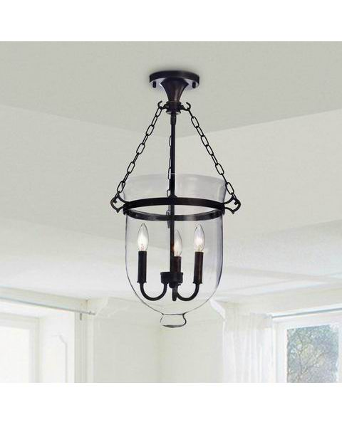 Glass Lantern Flush Mount Chandelier B275-PA-607