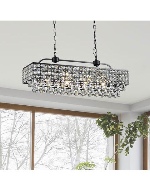 Antique Black 5-light Crystal Chandelier B301-US-620