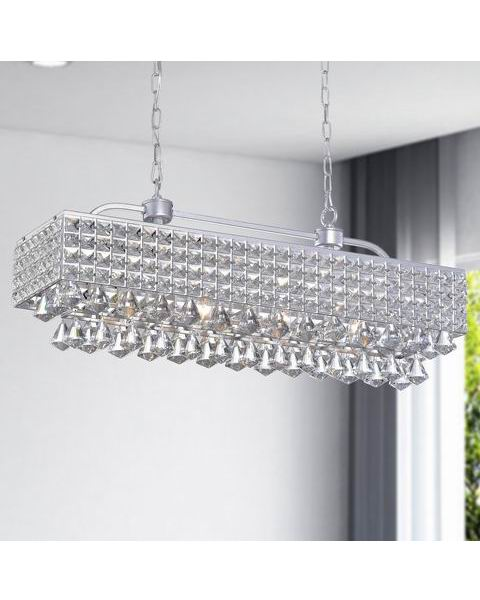 Jolie Silver 5-light Crystal Chandelier B303-YG-621