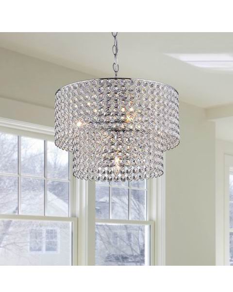 Affordable crystal chandelier modern chandeliercrystal for ainhoa 5 light chrome double round crystal chandelier b337 bx 63 aloadofball Images