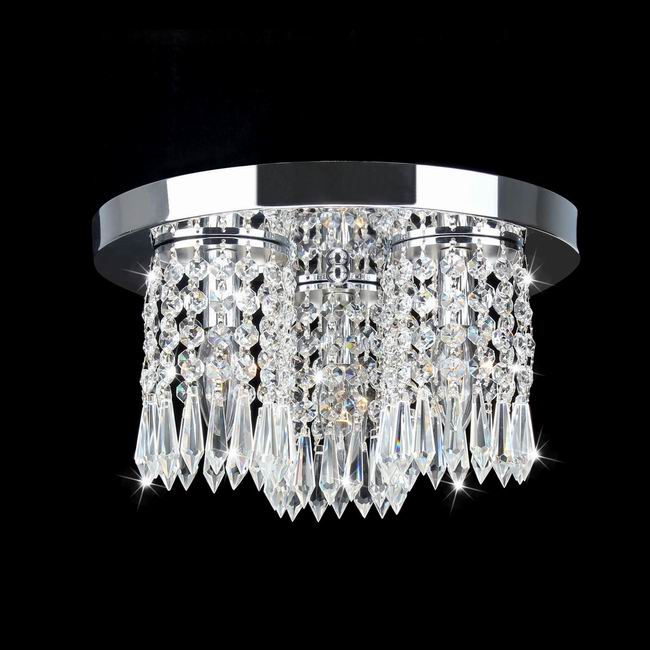 Monique Chrome and Crystal Flush Mount Chandelier - B859-LB-402
