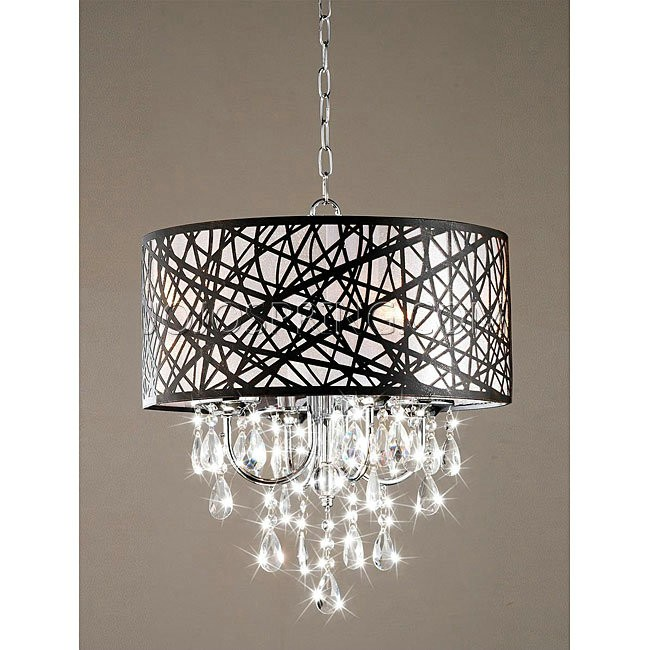 4light Chrome Crystal Chandelier Chandeliers Design – 4-light Chrome Crystal Chandelier