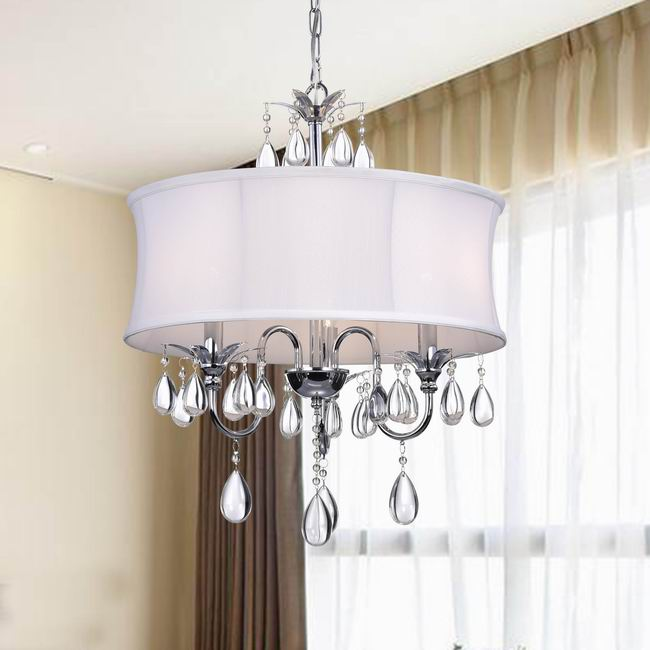Crystal Chrome 3-light Chandelier - BP2218