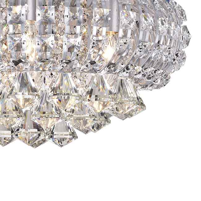 Jolie Silver Finish Crystal Flush Mount Chandelier BX-9415-ZLL<br /><span class=