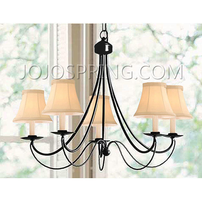 Black Iron 5-light Chandelier - B240W