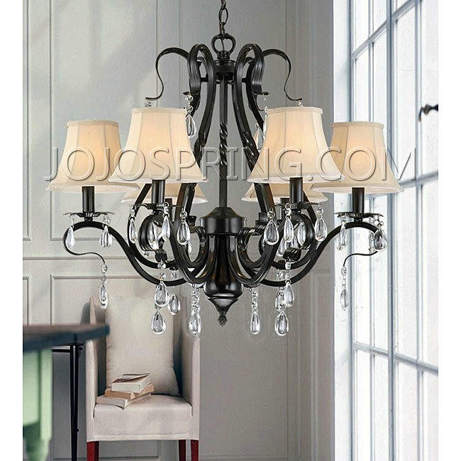 Black Iron 6-light Crystal Chandelier - K2601