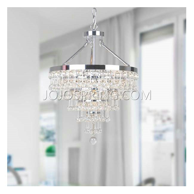Claudia Chrome 5-light Chandelier with Crystal Glass Drop