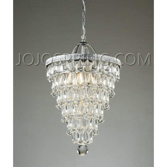 High Quality ... Cone Shape 4 Light Matte Silver Crystal Chandelier   L559 CFC 24 [