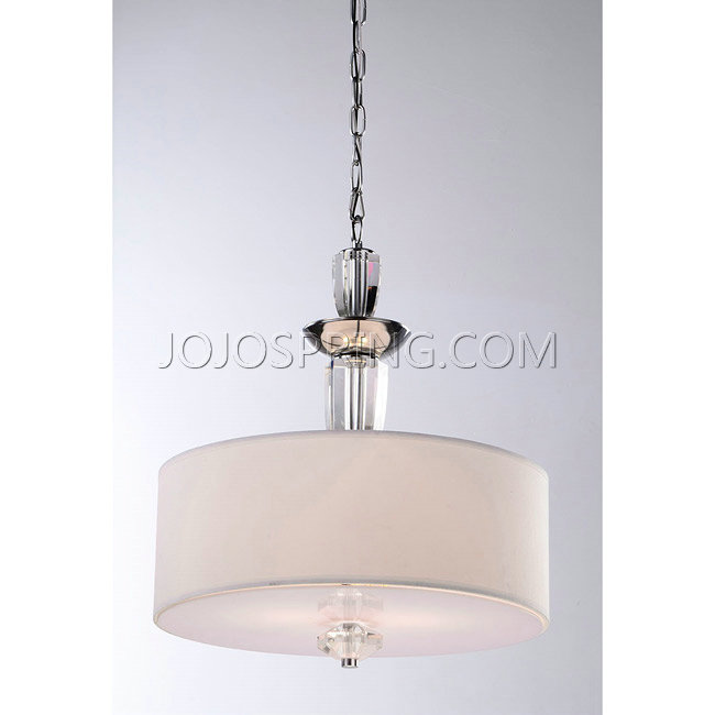Contemporary crystal base 3 light pendant chandelier for Contemporary chandeliers and pendants