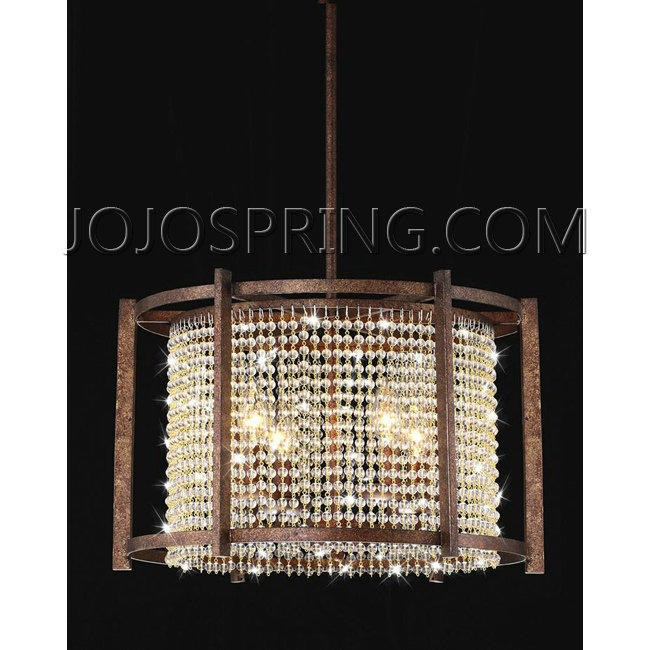 Dark Brown 4-light Crystal Pendant - B501-PBD-209