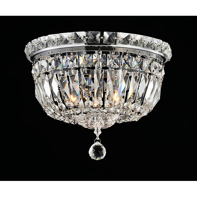 Elisa Chrome and Crystal Flushmount Chandelier - L787-DI-366