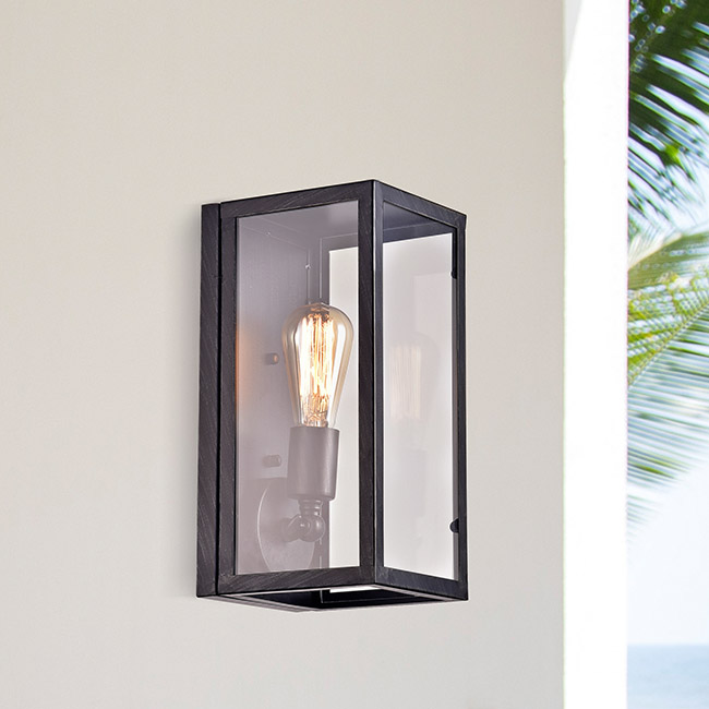 La Pedriza Vintage Antique Black Clear Glass Wall Sconce FD-2935-YRB