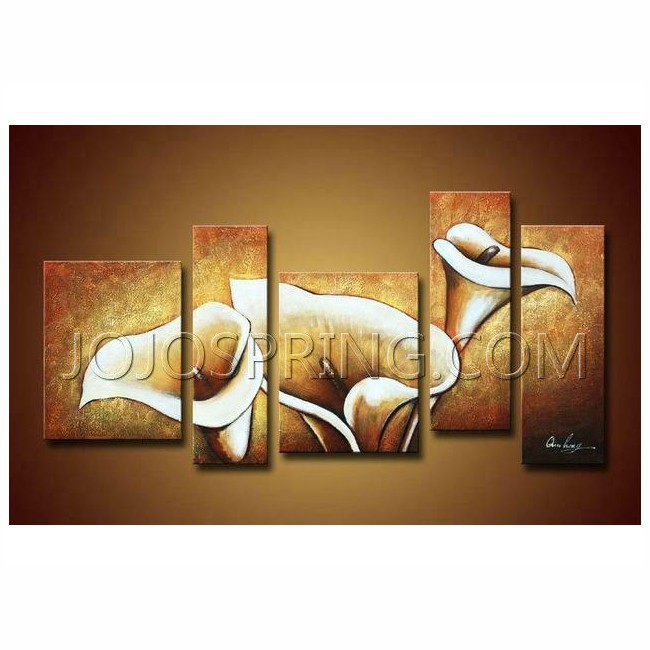 Flowers ' Hand-painted Oil on Canvas Art Set
