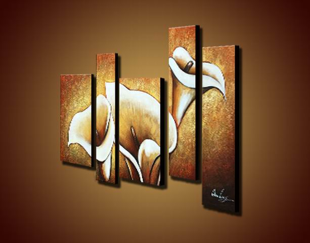Flowers ' Hand painted Oil on Canvas Art Set