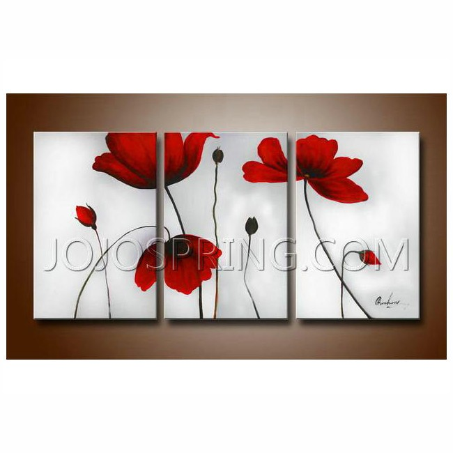 Flowers' Hand-painted Oil on Canvas Art Set