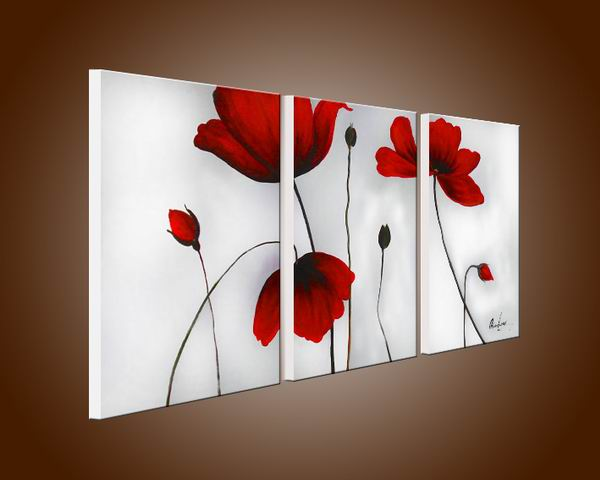 Flowers' Hand painted Oil on Canvas Art