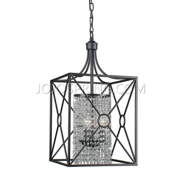 Gisela Crystal Beaded 3-light Iron Chandelier B029-LR-487