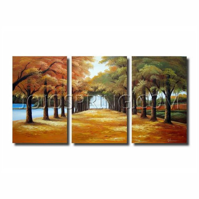 Golden Road' 3-piece Gallery-wrapped Canvas Art Set