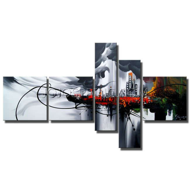 Hand-painted Angel City 5-piece Gallery-wrapped Canvas Art Set