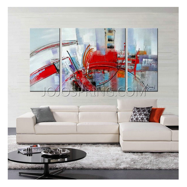 Hand-painted 'Filled with Light' 3-piece Gallery-wrapped Canvas