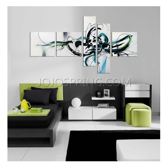Hand-painted 'Light Spirit' 5-piece Gallery-wrapped Canvas Art S