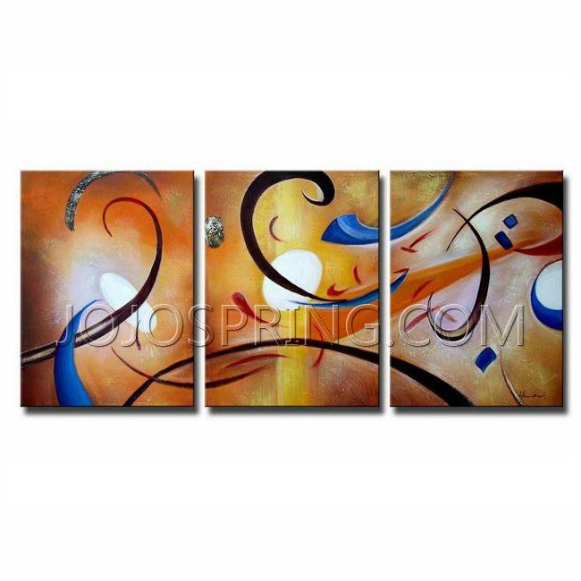 Happiness Abstract' Gallery-wrapped Canvas Art Set