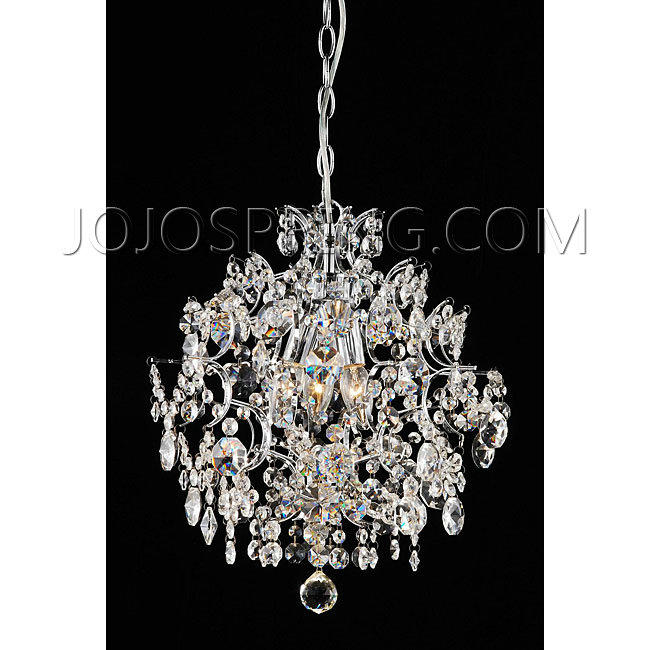 Indoor 3-light Chrome/ Crystal Chandelier - LCD-045-B3C