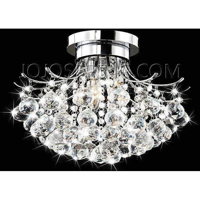 Indoor 3-light Chrome/ Crystal Chandelier - BCS-031-3FS