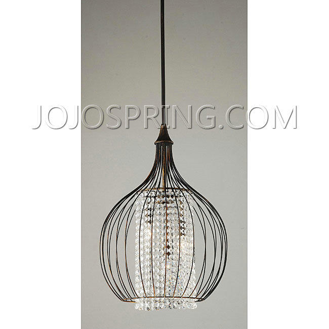 Indoor 3-light Copper/ Crystal Pendant Chandelier - LGA-081-3AC