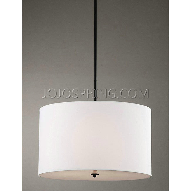 Indoor 4-light White Shade Pendant Chandelier - KPW-50A