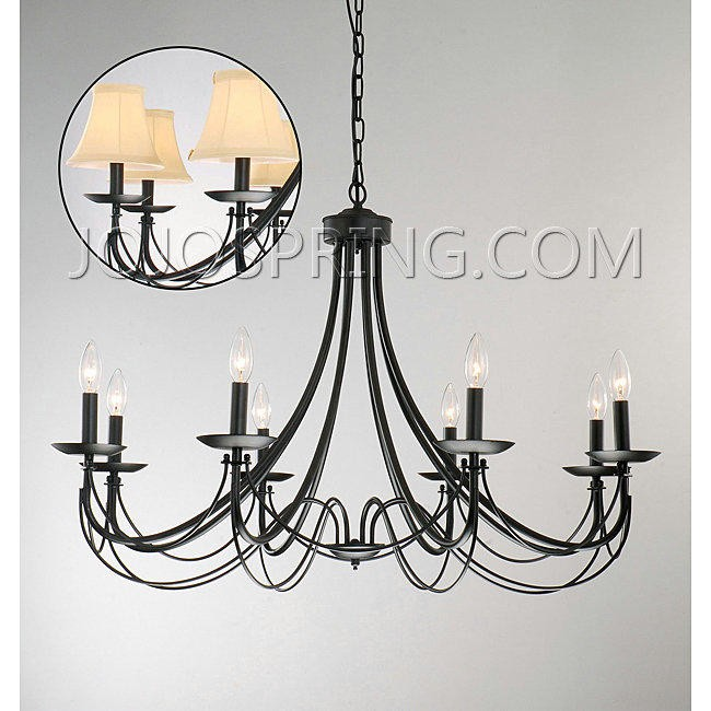 Iron 8-light Black Chandelier - B630-8