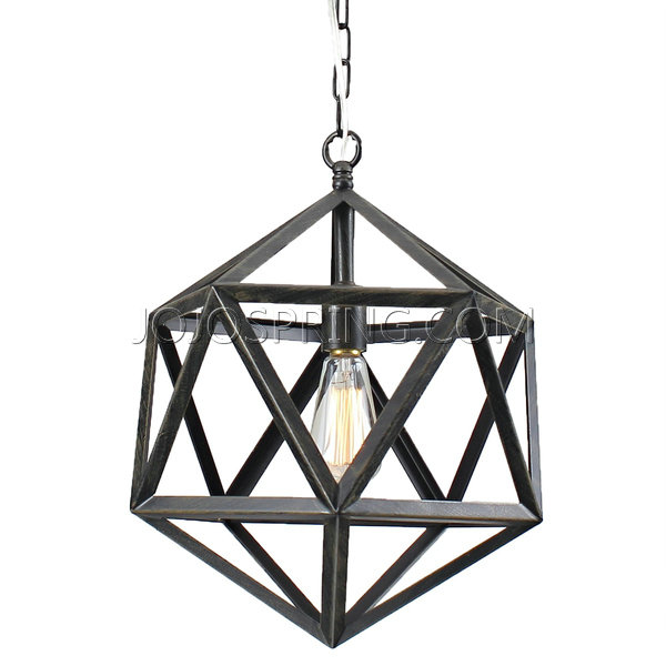 Joshua Antique bronze Multangular Chandelier