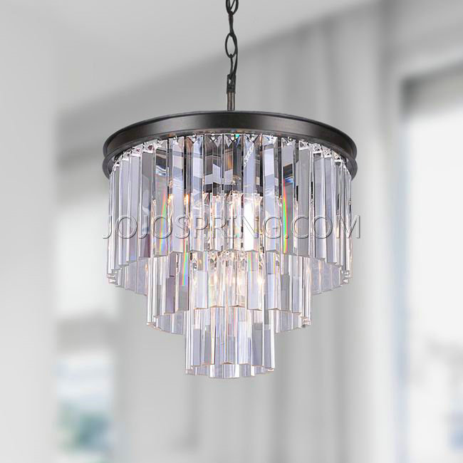 Cheap modern crystal for chandeliers lighting on sale Iron – Bronze Chandelier with Crystals