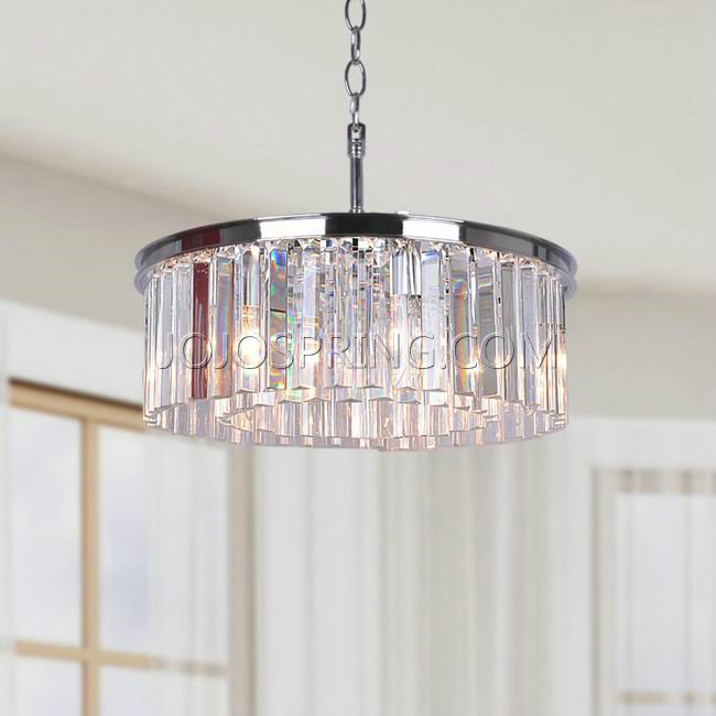 Justina 5light Chrome Chandelier with Crystal Glass Prisms – Glass Prisms for Chandeliers