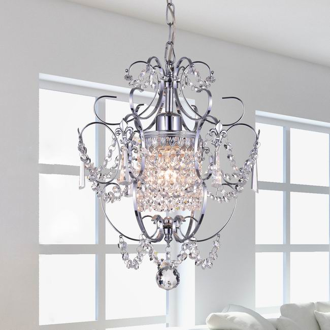 Chrome Crystal Chandelier - KC1215